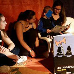 Les 2sapat croquent les mots à la salle Po de Mayenne